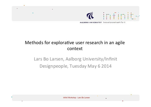 Methods for explorative user research in an agile context