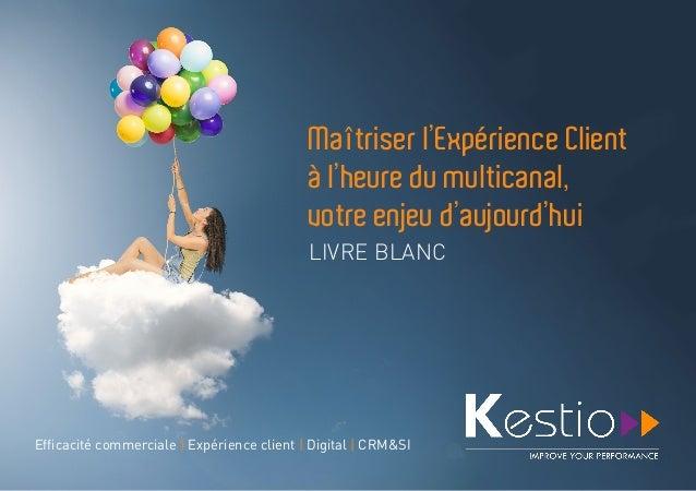 Maîtriser l'Expérience Client à l'heure du multicanal, votre enjeu d'aujourd'hui LIVRE BLANC Efficacité commerciale | Expé...