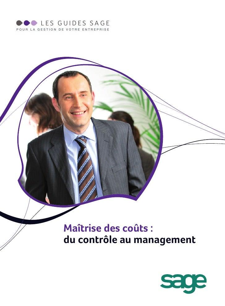 Maîtrise des coûts: Du contrôle au Management