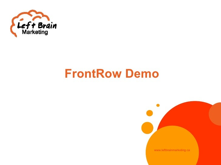 Lbm Front Row Demo V02