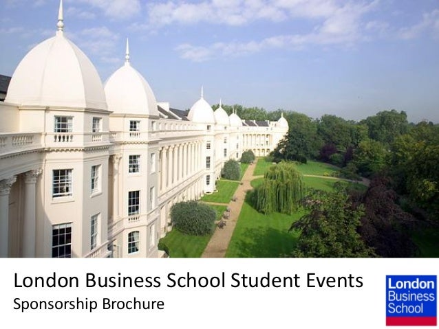 London Business School Student Events Sponsorship Brochure