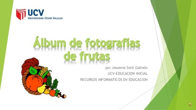 áLbum de fotografías de frutas