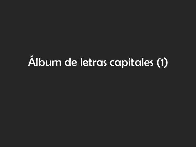 Álbum de letras capitales (1)