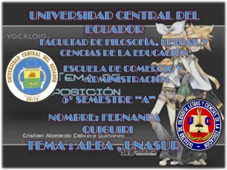 ¿ Que es al alBa…?  Es el encuentro de los pueblos y gobiernos queentienden que la América     Latina Caribeña   conforma ...