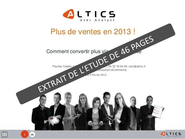 XX Mardi 5 Février 2013 Plus de ventes en 2013 ! Comment convertir plus via un site mobile Pauline Catelin-Jullien| Direct...