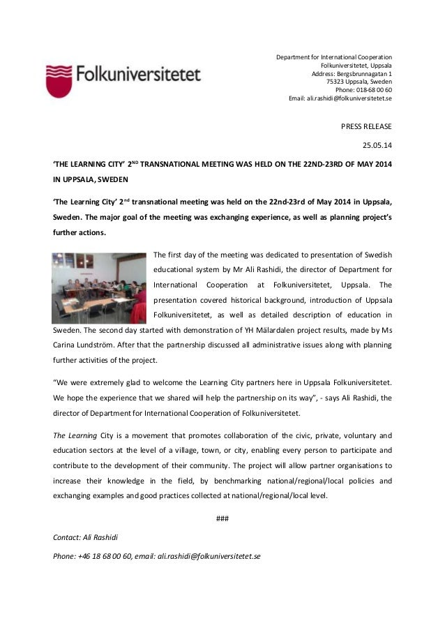Lc 2nd transnational meeting press release