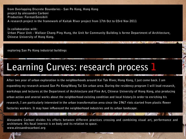Learning Curves: research process - exploring San Po Kong