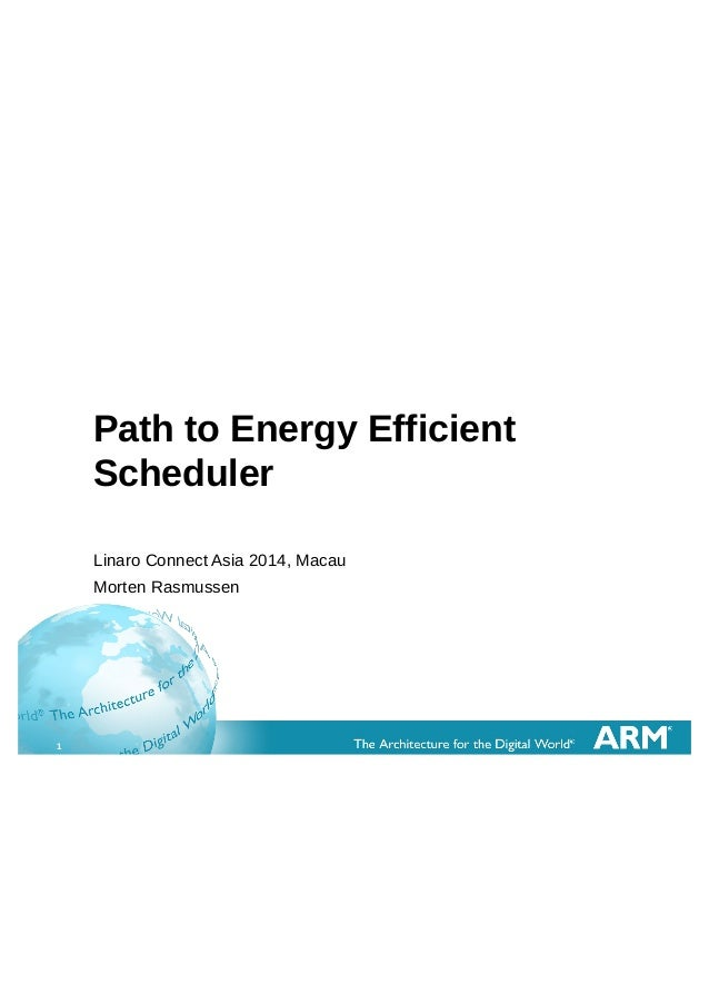 LCA14: LCA14-109: Path to Energy Efficient Scheduler