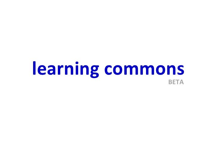 learning commons BETA