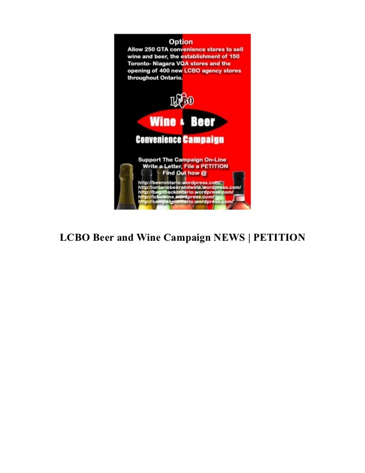 LCBO Beer and Wine Campaign NEWS | PETITION