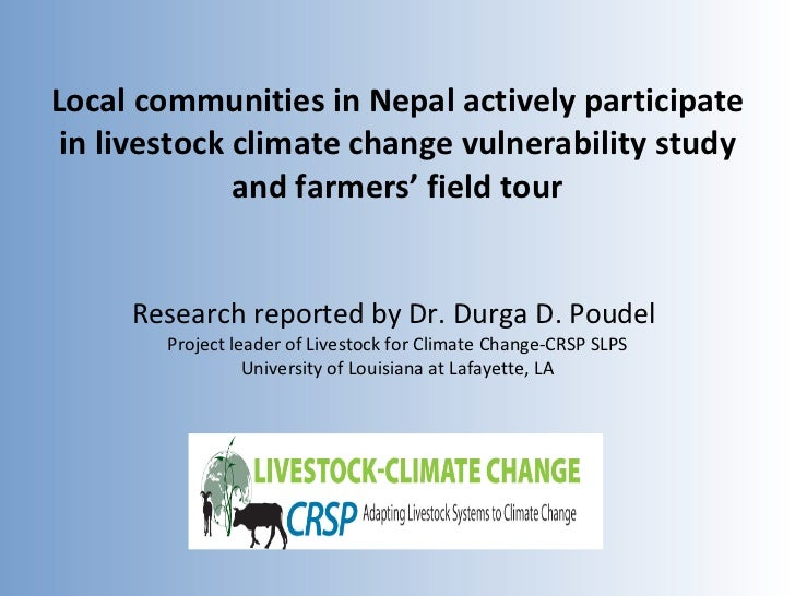 Local communities in Nepal actively participate in livestock climate change vulnerability study and farmers' field tour Re...