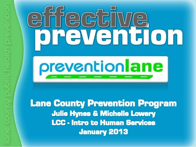 LCC - Intro to Human Services -  Prevention