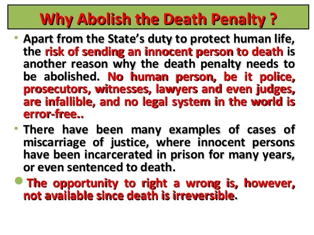 death penalty the need of the