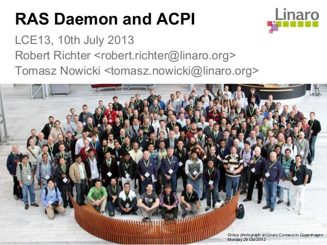 LCE13: LEG - RAS Daemon and ACPI