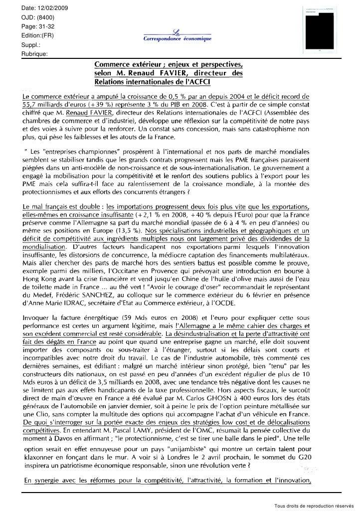 Date: 12/02/2009 OJD: (8400) Page: 31-32 Edition:(FR) Suppl.: Rubrique:                        Tous droits de reproduction...