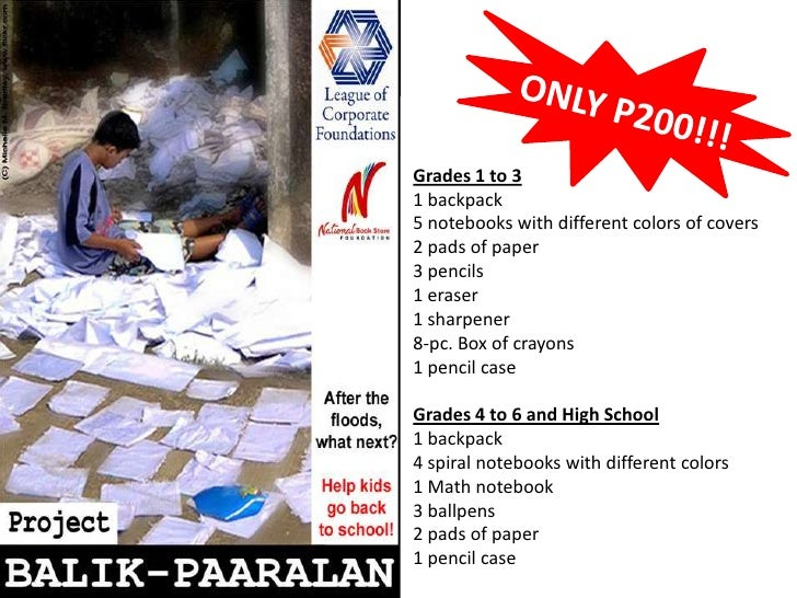ONLY P200!!!<br />Grades 1 to 3<br />1 backpack<br />5 notebooks with different colors of covers<br />2 pads of paper <br ...