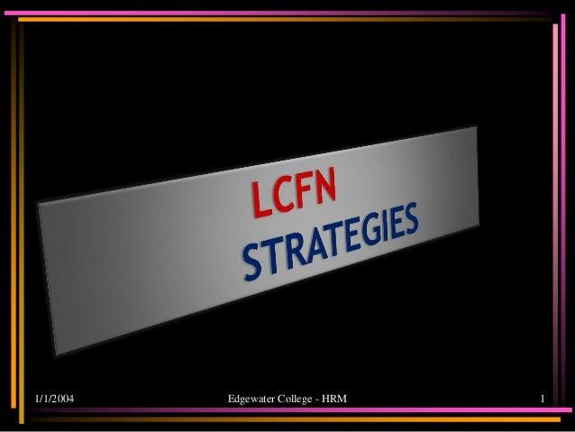 Lcfn strategies 2012