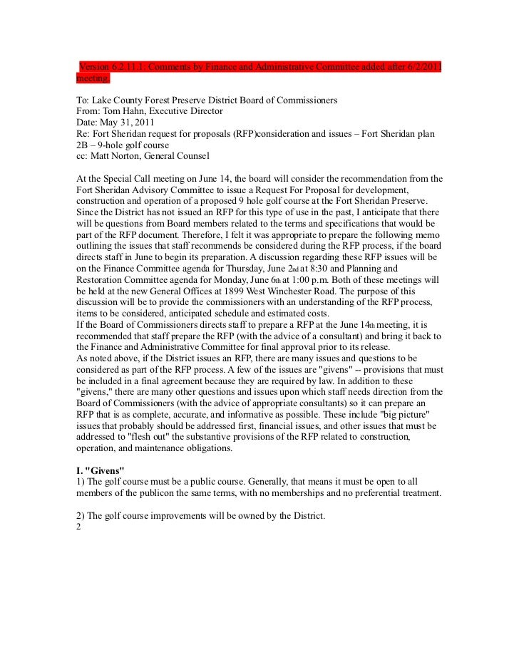 Version 6.2.11.1: Comments by Finance and Administrative Committee added after 6/2/2011meeting.To: Lake County Forest Pres...