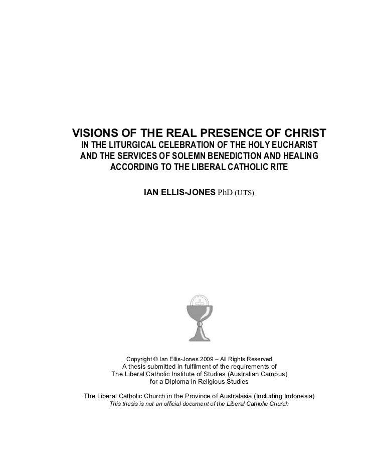 VISIONS OF THE REAL PRESENCE OF CHRIST