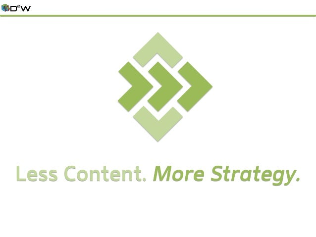 Less Content. More Strategy.