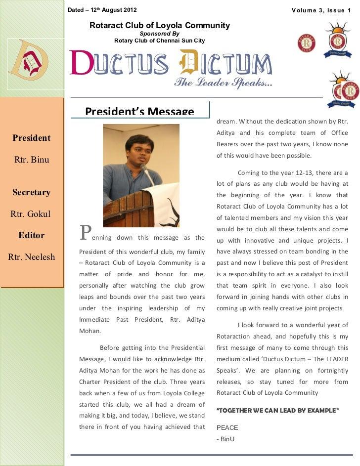 Ductus Dictum - Issue 1 (Installation Issue)