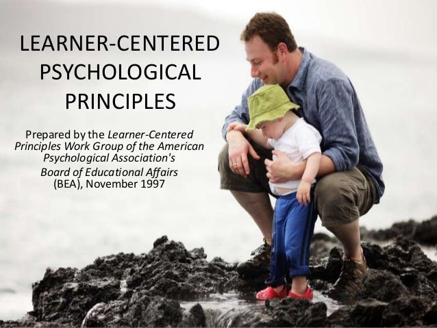 LEARNER-CENTERED PSYCHOLOGICAL PRINCIPLES Prepared by the Learner-Centered Principles Work Group of the American Psycholog...