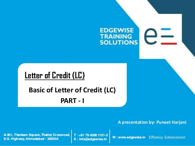 Assignment of letter of credit