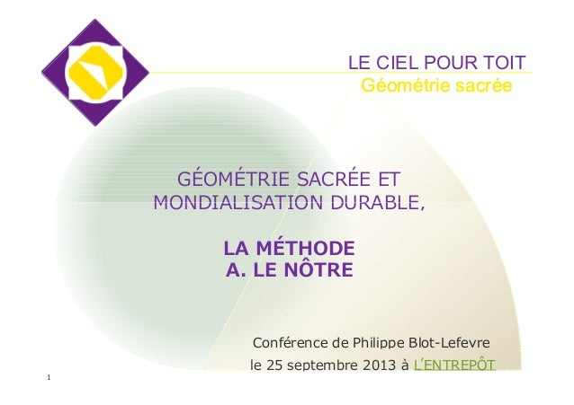 La methode Le Nôtre-Ph_Blot-Lefevre-extrac-conference-oct2013
