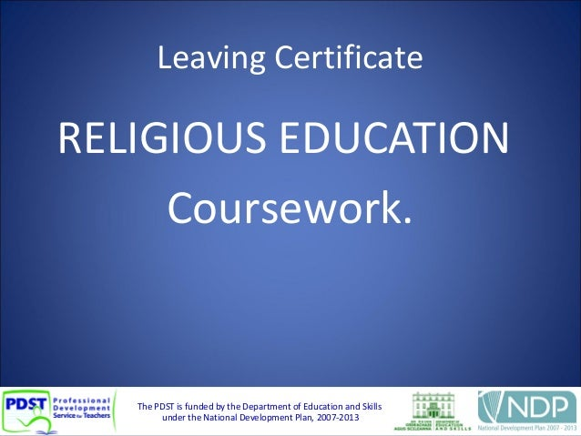 LC Religious Education coursework general