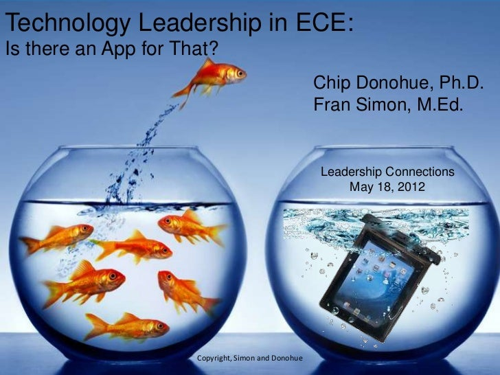 Technology Leadership in Early Childhood Education: Is There an App for That?