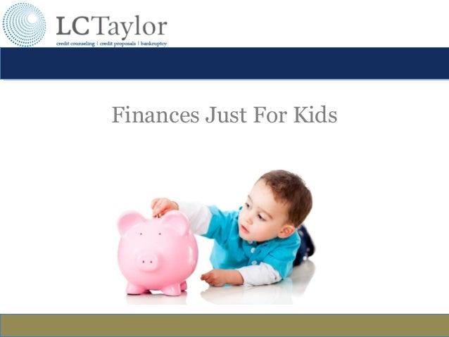 Finances Just For Kids