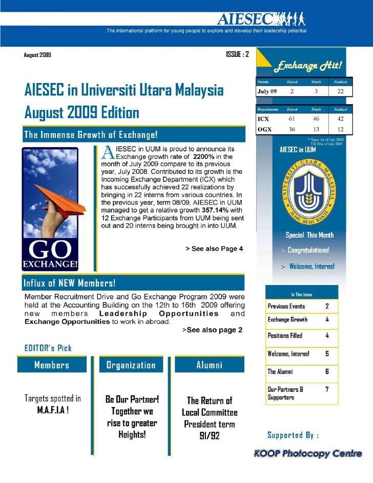 LC UUM Newsletter (August 2009)