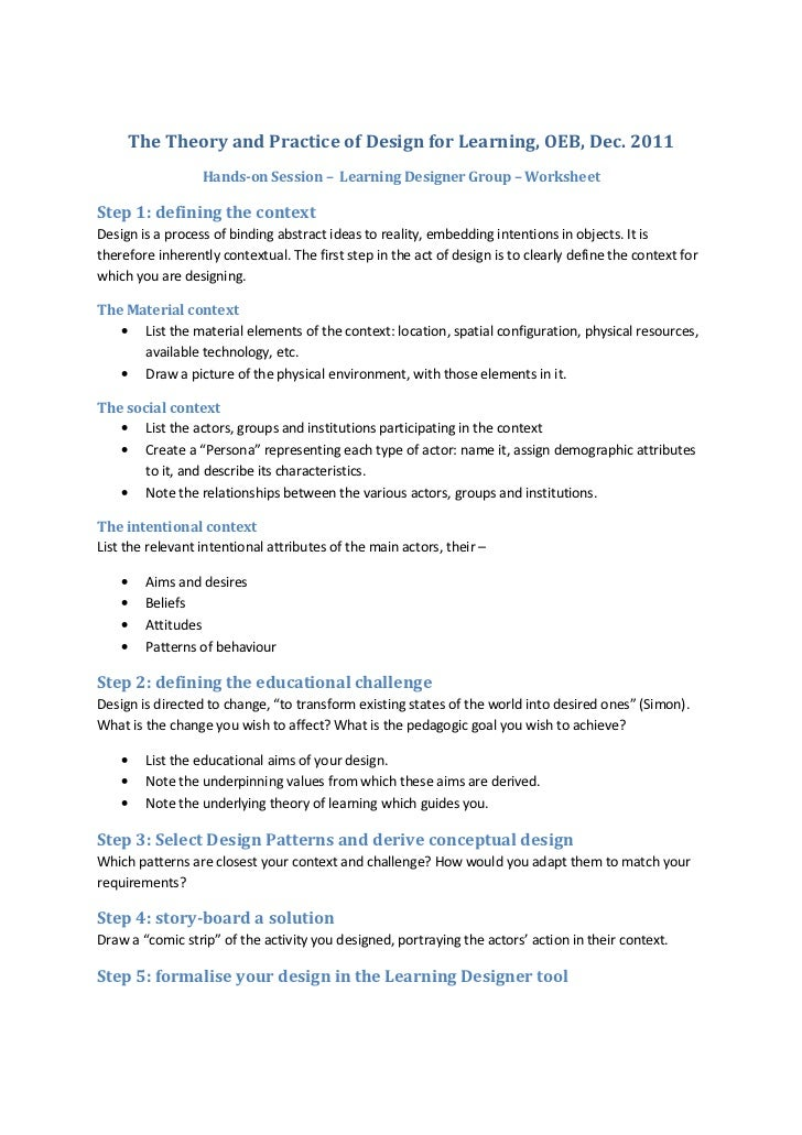 Ld worksheet