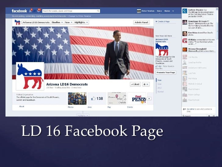 LD 16 Facebook Page