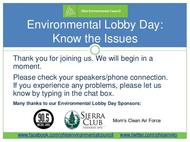 2014 Environmental Lobby Day Know-the-Issues Webinar