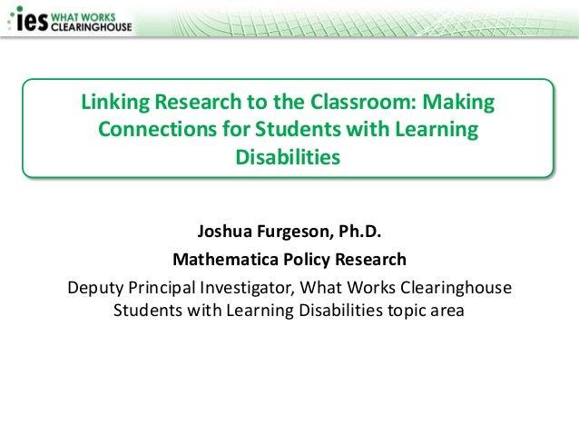 WWC Presentation at LDA Conference