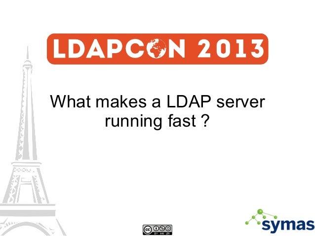 What makes a LDAP server running fast ?