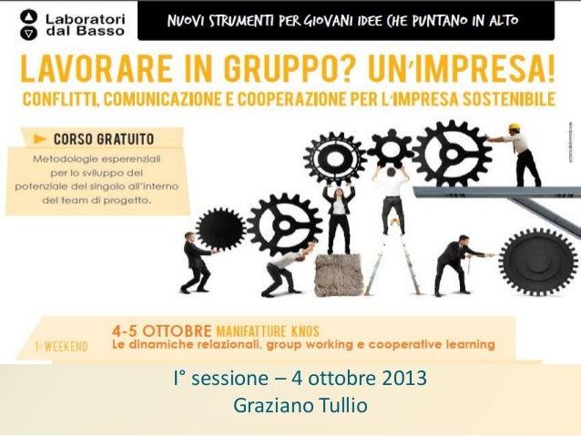 I° sessione – 4 ottobre 2013 Graziano Tullio