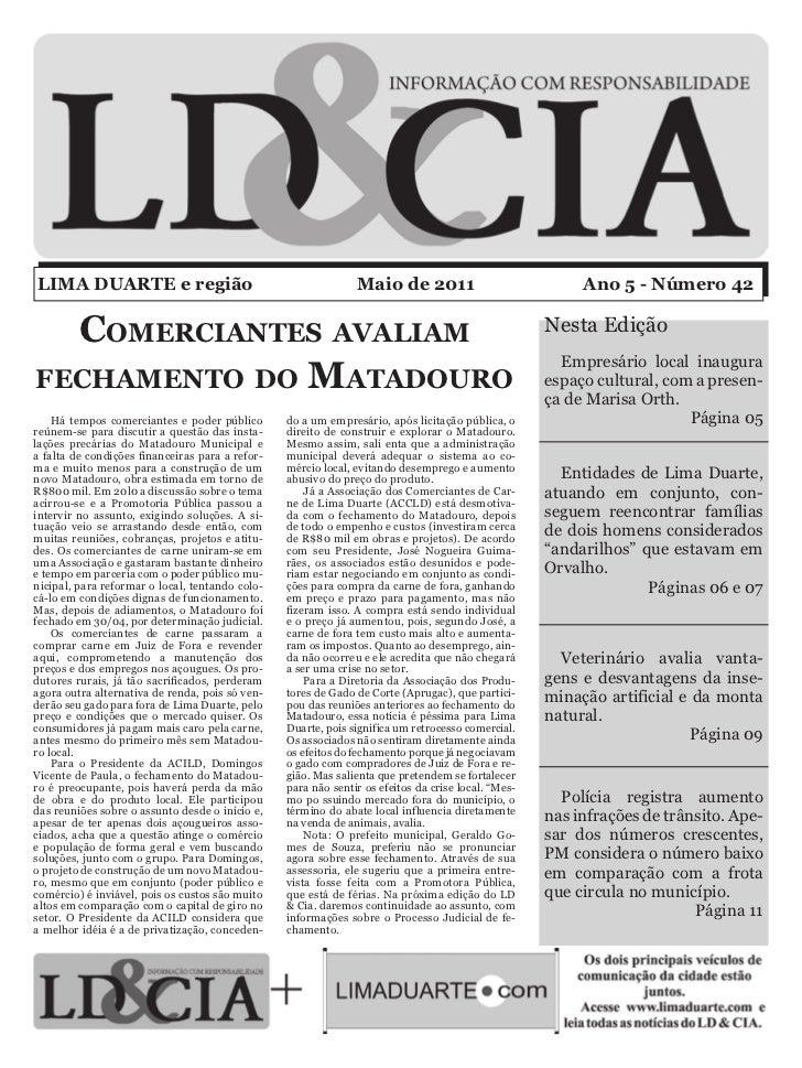 LIMA DUARTE e região                                           Maio de 2011                              Ano 5 - Número 42...