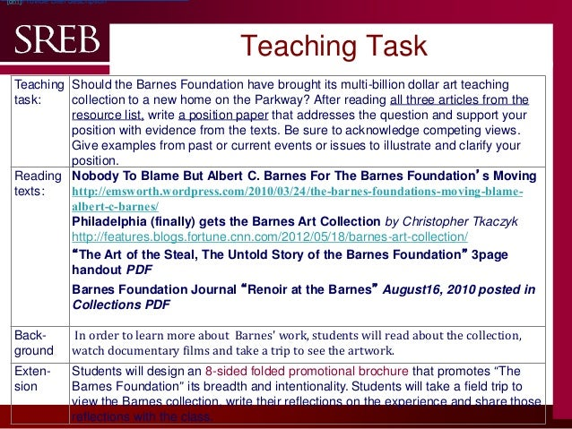 company logo teaching task teaching task should the barnes foundation