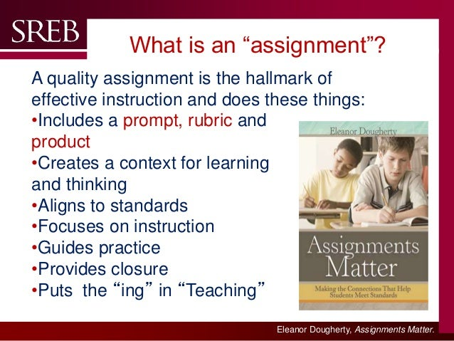 Assignment - definition of assignment by The Free Dictionary