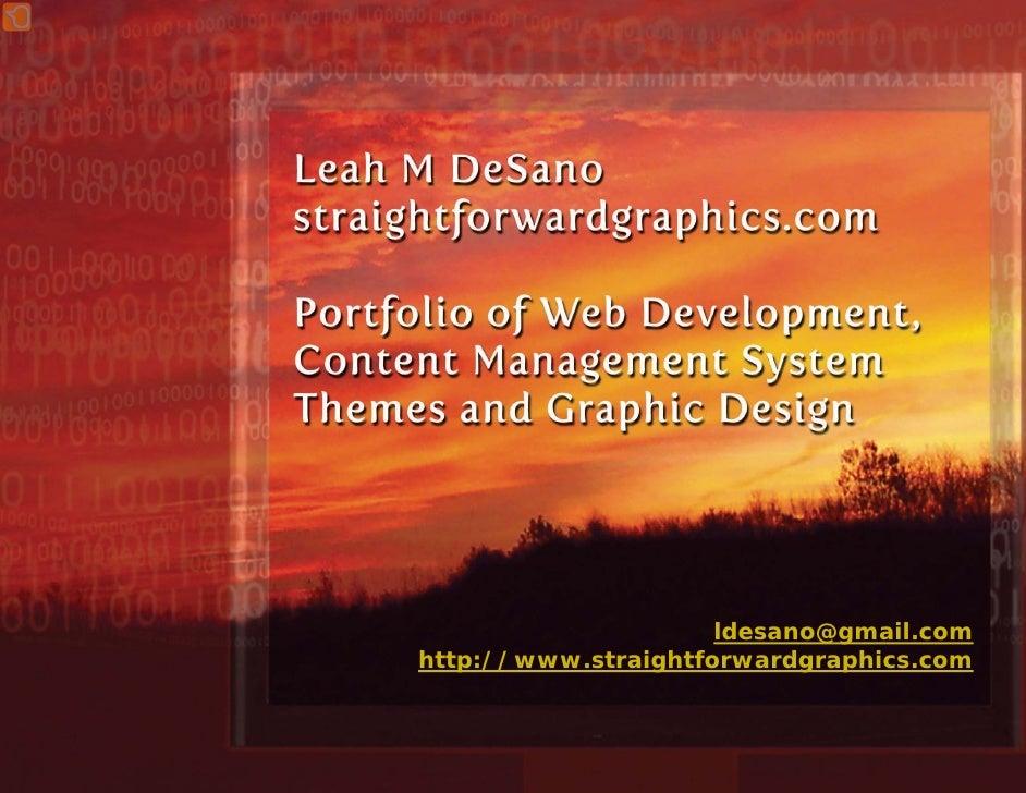 ldesano@gmail.com http://www.straightforwardgraphics.com