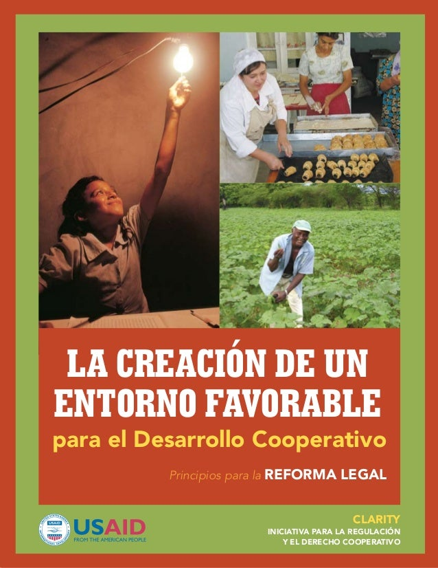 La creación de un entorno favorable  para el Desarrollo Cooperativo