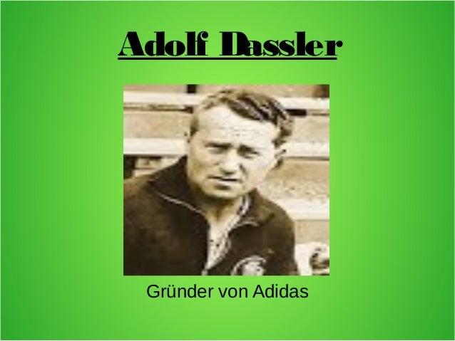 Adolf Dassler Gründer von Adidas