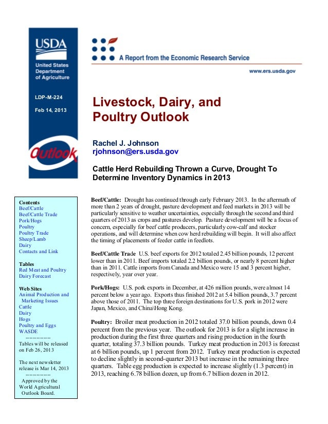 Livestock, Dairy, and       LDP-M-224       Feb 14, 2013                          Poultry Outlook                         ...