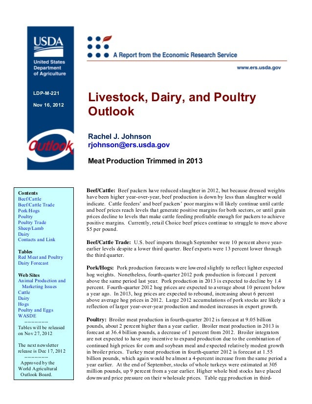 Livestock, Dairy, and Poultry       LDP-M-221       Nov 16, 2012                          Outlook                         ...