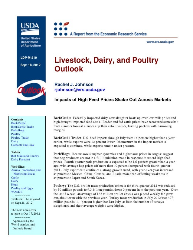 LDP-M-219       Sept 18, 2012                          Livestock, Dairy, and Poultry                          Outlook     ...