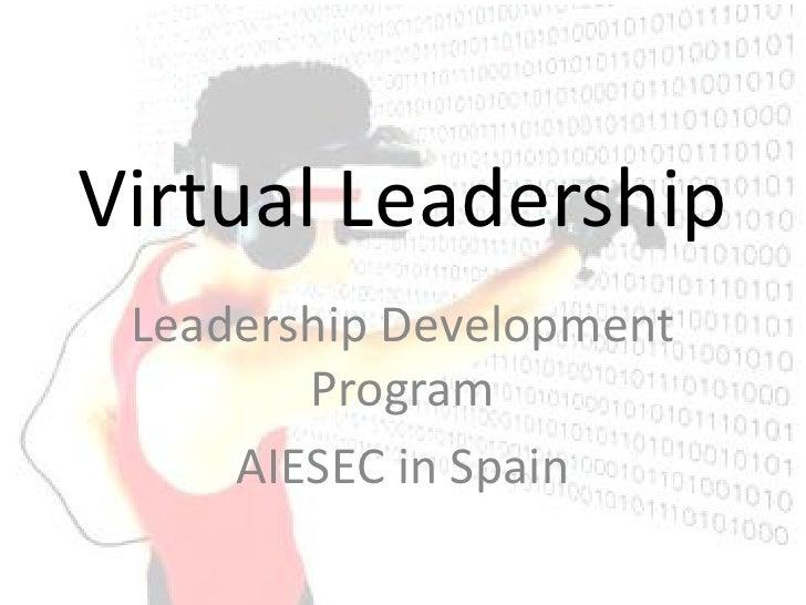 Virtual Leadership  Leadership Development         Program      AIESEC in Spain