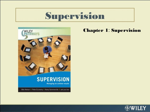Supervision Chapter 1: Supervision