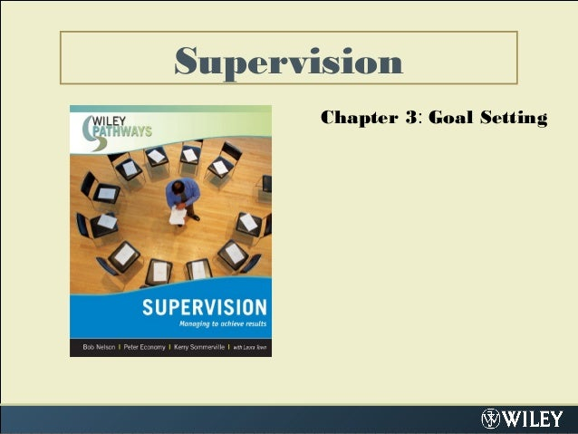 Supervision Chapter 3: Goal Setting